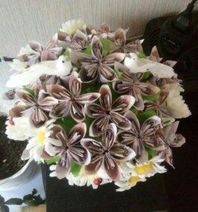 Денежно-цветочные корзинки