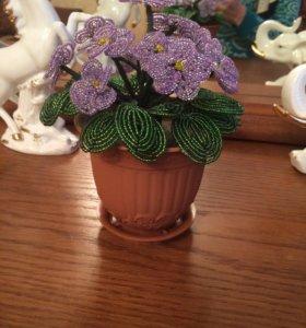 Цветы из бисера + подарок