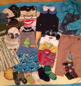Пакет вещей на мальчика 1,5-2 года