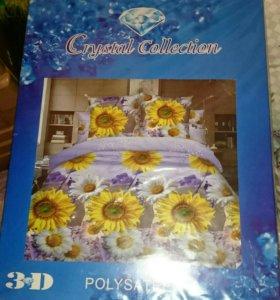 Комплект постельного белья новый (евро)