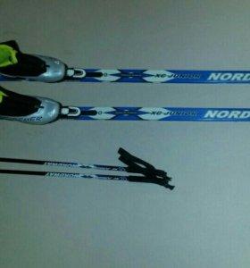 Лыжи беговые Nordway (комплект), новые.