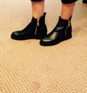 Натуральная кожа ботинки (новые)