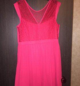 Платье , цвет красный , слева замок , OASIS