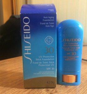 Shiseido водостойкий тональный -Стик