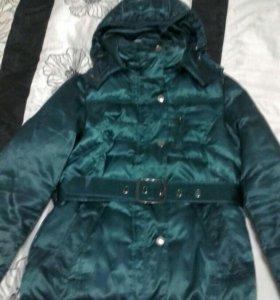 Куртка осень зима. Изумрудного цвета