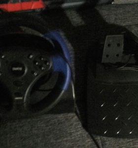 Компьютерный руль с педалями Dialog