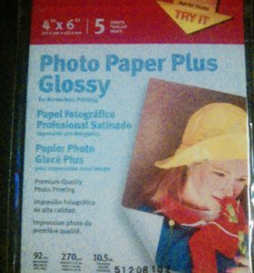 Photo Paper Plus Glossy. Фото-бумага