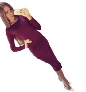 Платье до колен лапша
