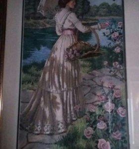 Картина, вышитая крестиком