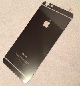 Зеркальное стекло на айфон 6+ серого цвета