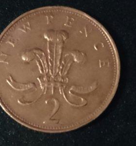 Монета Великобритании.