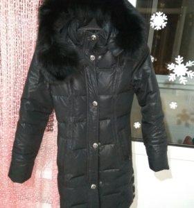 Пуховик пальто шикарный теплый