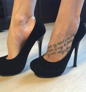 Новые натуральные замшевые туфли
