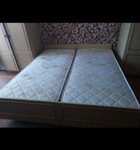Кровать и  матрас(новый)