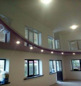 Натяжные потолки.2-х уровневые натяжные потолки.