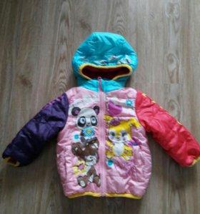 Продам куртку японскую на девочку  1-1,6 годик