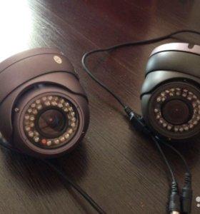 Плата видеозахвата + 2 аналоговые камеры