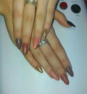 Шеллак, Наращивание ногтей, дизайн