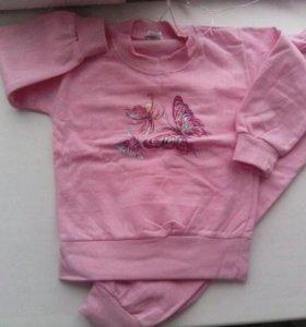 Детские пижамы( новые теплые