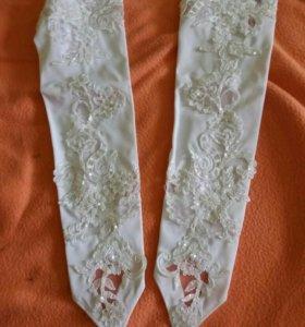 Платье свадебное, перчатки, кольцо