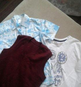 Куртка 2шт  Рубашка+кофта и жилетка