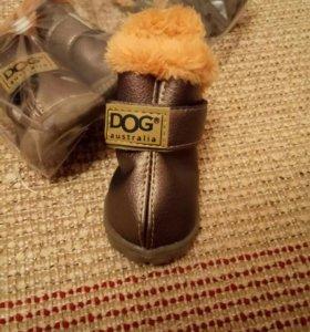 Ботинки зимние для собак