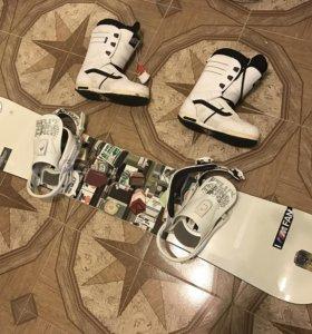 Сноуборд+крепы+ботинки+чехол