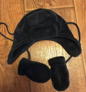 Тёплая шапочка и варежки