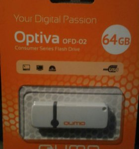Флешка USB 64Гб фирма QUMO