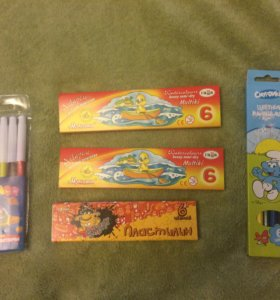Акварель, пластилин, карандаши, фломастеры.