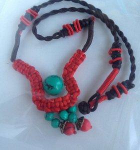 Тибетское ожерелье ручной работы
