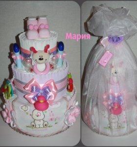 Торт из памперсов для малышей