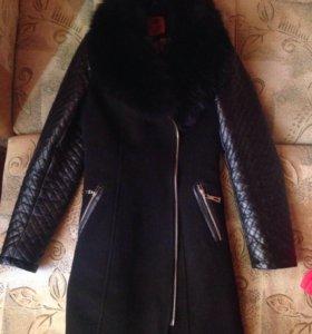 Пальто натур мех