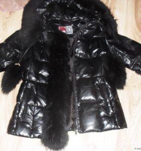 Куртка зимняя из экокожи