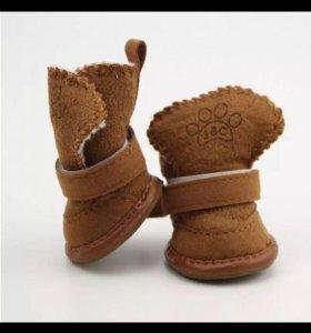 Обувь для собаки карликовой породы. 4 шт.