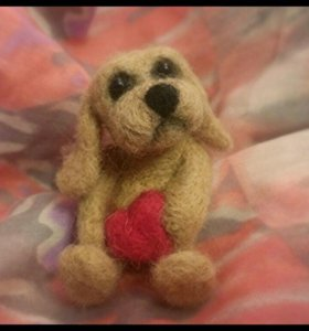 Собачка  с сердцем.