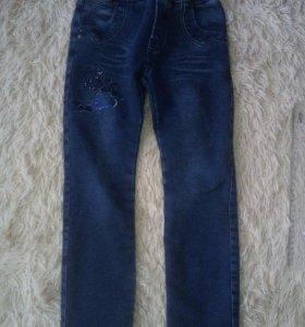 Утепленные джинсы.