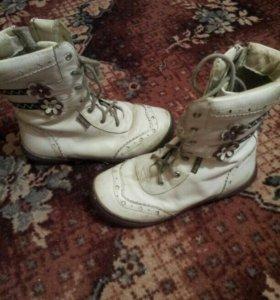 Капика кожа ботинки
