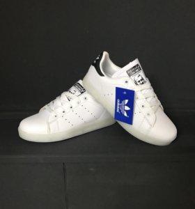 Кроссовки Adidas с подсветкой белые, арт 0015