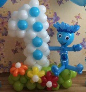 Цифра на день рождения с героем из мультфильма