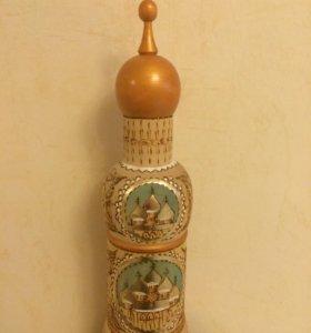 """Сувенир """"Собор""""-упаковка для бутылки"""