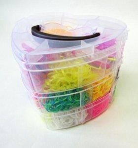 Набор резинок для плетения трех-ярусный СЕРДЦЕ