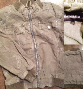 Котоновая курточка на 7-8 лет
