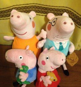 НОВЫЫЕ МЯГКИЕ ИГРУШКИ. Семья свинки Пеппы.