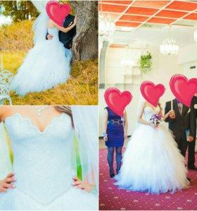 Свадебное платье 42-48р