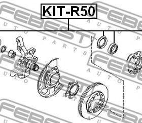 Подшипник роликовый передней полуоси KIT-R50