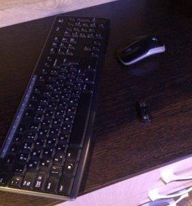 Беспроводной набор :клавиатура с мышкой беспровода