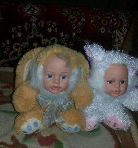 Детки в костюмах зайчика