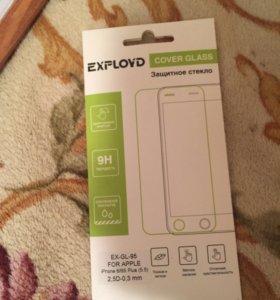 Защитное стекло на айфон 6/s+