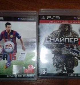 Игры на PS3 (Fifa 15, Снайпер 2)